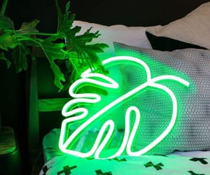 green, neon, and arts image