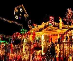 christmas, house, and lights image