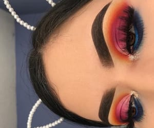 eyebrows, likes, and instagram image