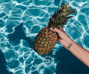 ananas, pineapple, and sea image