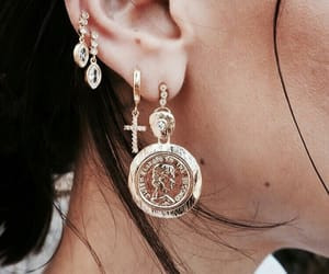 earrings, girl, and nails image