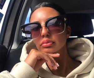 sunglasses hair, lunette de soleil, and brune brunette image