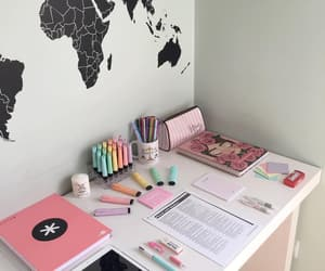 aesthetic, desk, and goals image