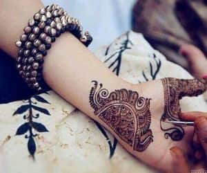 bangles, beauty, and mehendi image