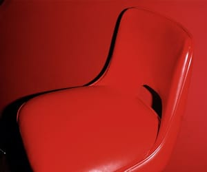 chair, photography, and red image