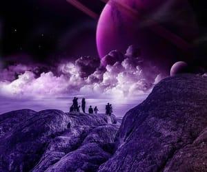fantastic, purple, and saturn image