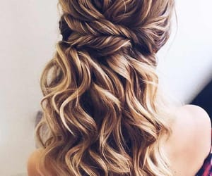 blonde, hair, and Prom image