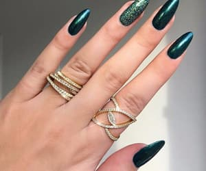 nails, jewelry, and green image