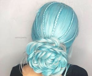 braids, colored hair, and pastel hair image