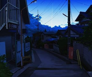 blue, illustration, and scenery image