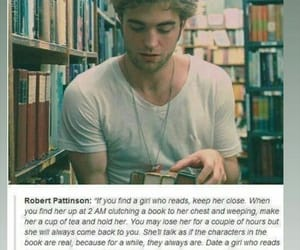 girl, read, and quote image
