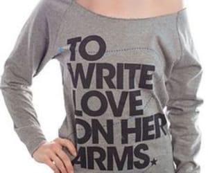 arms, sad, and love image