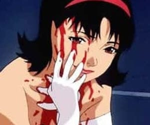 anime, perfect blue, and blood image