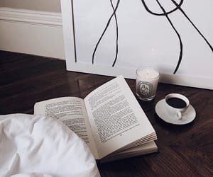 art, book, and coffee image