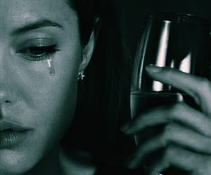 Angelina Jolie, cry, and sad image