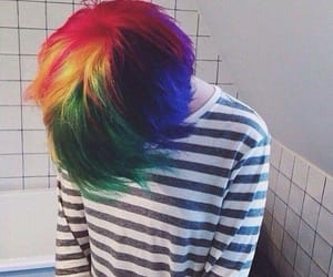 grunge, rainbow, and hair color image