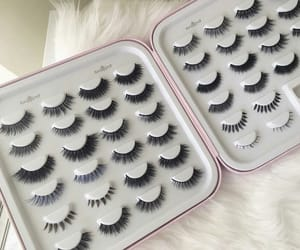 beauty, lashes, and fake lashes image