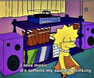music, the simpsons, and lisa simpson image
