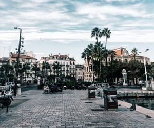 architecture, france, and palms image