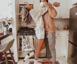 coffee, kitchen, and couple image