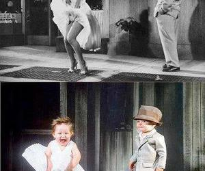 baby and Marilyn Monroe image
