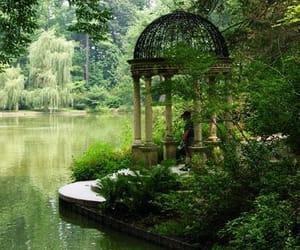 garden, green, and lake image