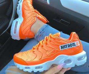 nike, orange, and shoes image
