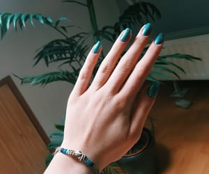bracelet, cyan, and hand image
