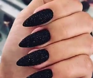 black, nails, and noir image