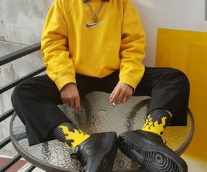 outfit, yellow, and boy image