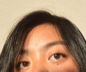black hair, sunlight, and brown eyes image