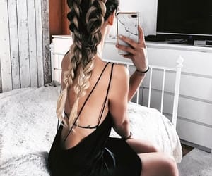 beauty, braided, and fashion image