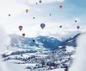 holiday, switzerland, and hot air balloon image