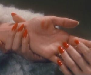 red, nails, and aesthetic image