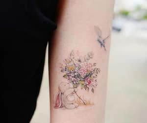 animal, flower, and colortattoo image