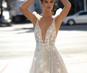 bridal gown, dress, and embellishment image