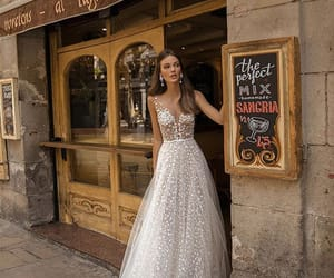 bridal gown, dress, and gown image