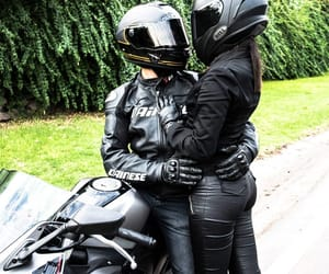 biker, couple, and sexy image