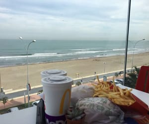 fast food, sea, and mc donalds image