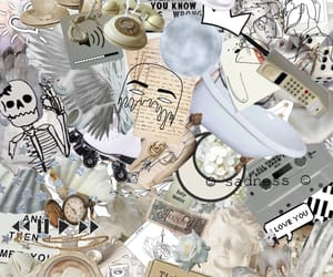 background, beige, and Collage image