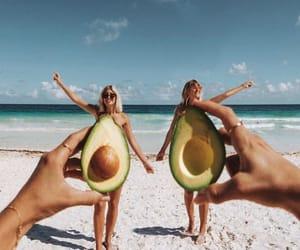 avocado, beach, and girls image