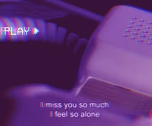 missing you and 💜 image