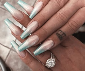 pink and blue, nail goals, and tumblr image
