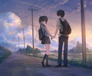 background, hand in hand, and scenery image