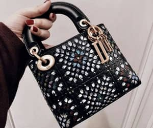 dior, bag, and black and gold image