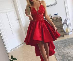 prom dress, homecoming dress, and prom dress high low image