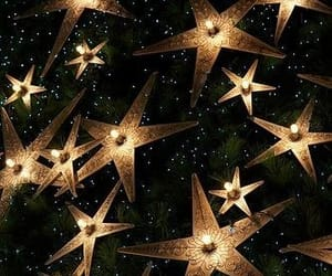 gold, stars, and black image