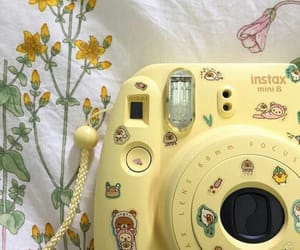 aesthetic, yellow, and camera image