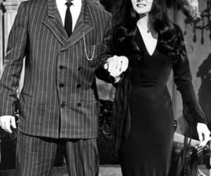carolyn jones, john astin, and the addams family image