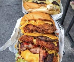 burger, tasty, and cheddar image